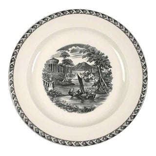 1960s Round Platter Lugano Black by Wedgwood For Sale