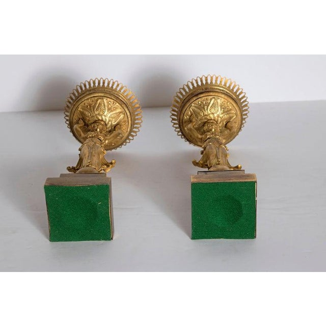 Early 19th Century Pair of French Empire Gilt Bronze Centerpiece Tazzzas For Sale - Image 11 of 13