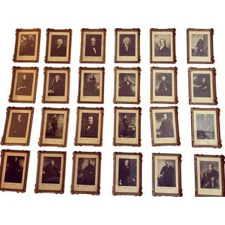 Framed American Presidential Portraits - Set of 24 For Sale
