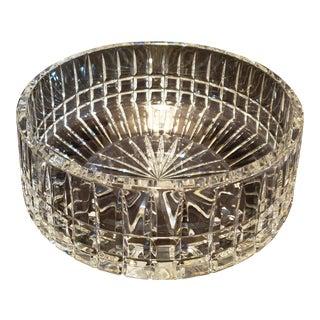 Mid-Century Modern Czech Republic Crystal Bowl For Sale