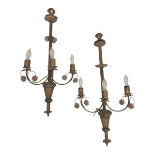 Antique Tin Scones - a Pair For Sale