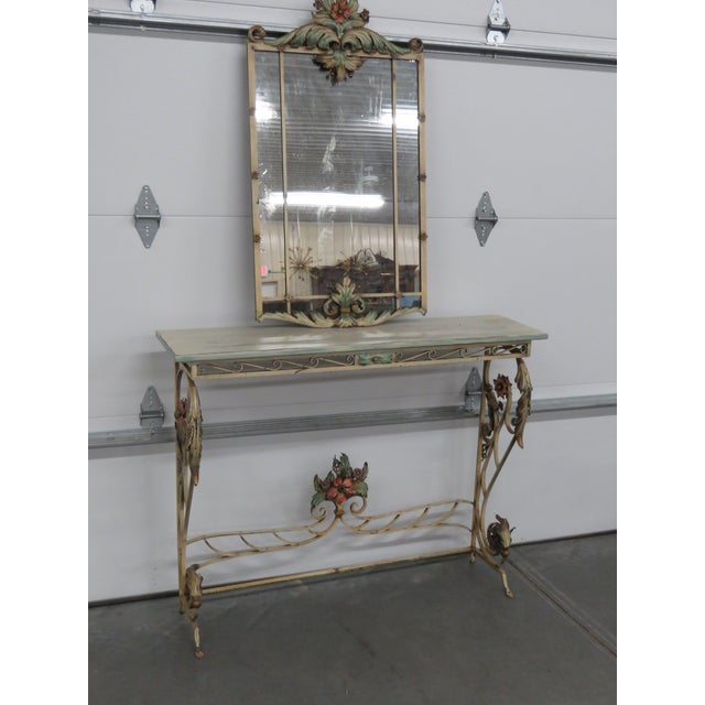 Venetian Style Wrought Iron Console and Mirror For Sale - Image 12 of 12