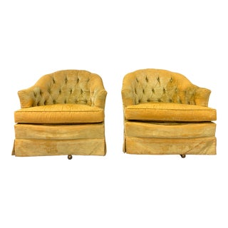Vintage Swivel Chairs - a Pair For Sale