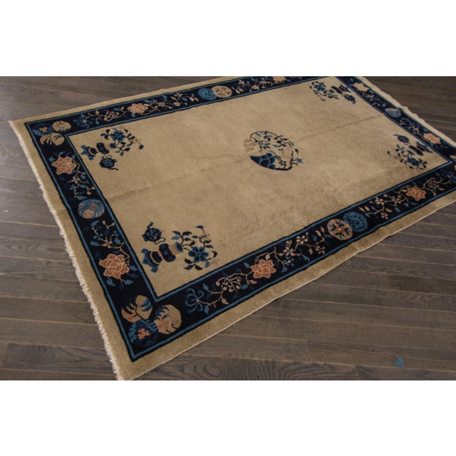 "Apadana Antique Chinese Deco Rug - 5' x 7'10"" For Sale In New York - Image 6 of 7"