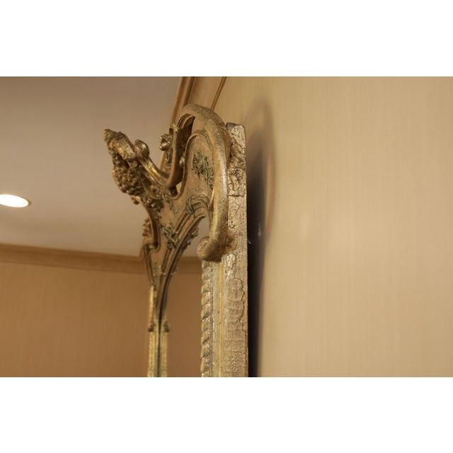 Roccoco Style Gilded Wood Mirror - Image 6 of 8