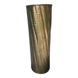 Tall & Large Vintage Brass Umbrella Stand