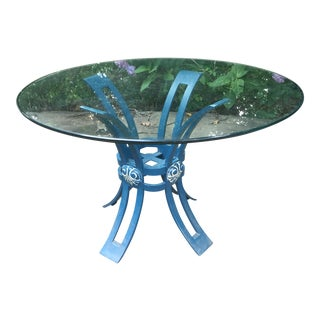Vintage Wrought Iron Grotto Patio Table