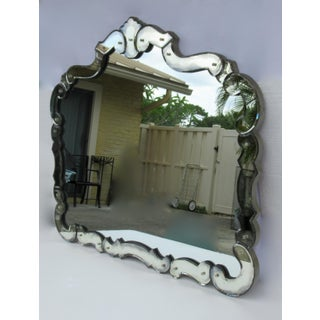 Large 1940's-50's Hollywood Regency Era, Venetian-Style Antique Acid Finished Wall Mirror Preview