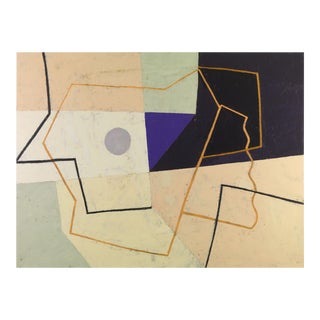 "Jeremy Annear Painting, ""Linear Construct (Violet Triangle)"" For Sale"