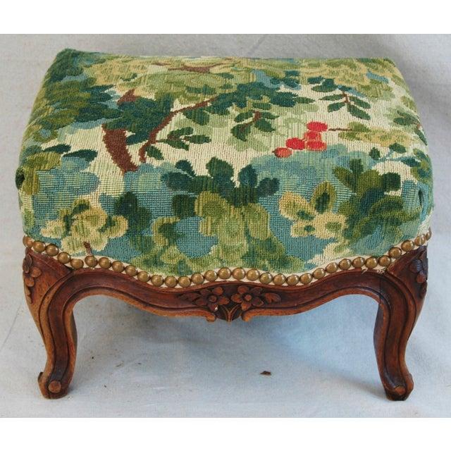 Vintage Italian Scalamandre Fabric Footstool - Image 2 of 10