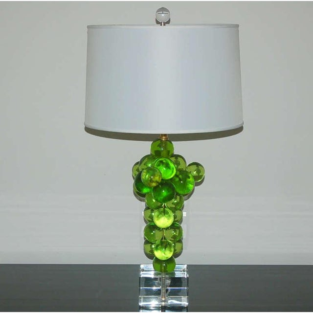 Italian Vintage Bubble Table Lamps Pantani Green For Sale - Image 3 of 10