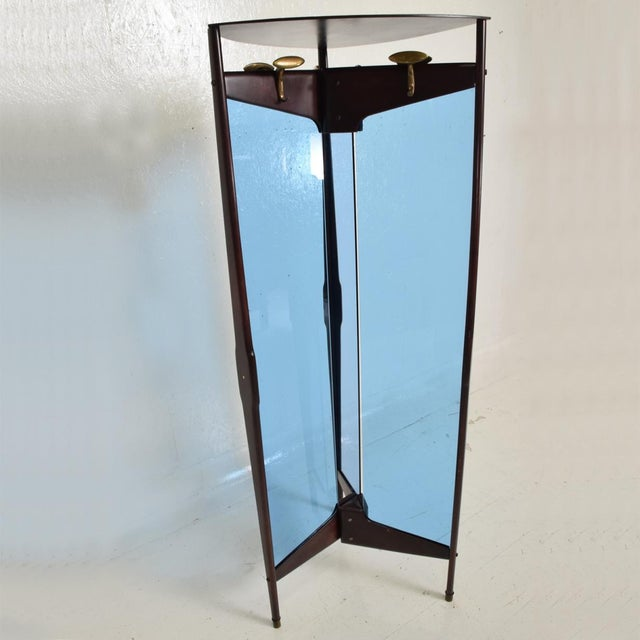 Gold Mid-Century Modern Italian Coat Rack Room Divider After Ico Parisi For Sale - Image 8 of 9