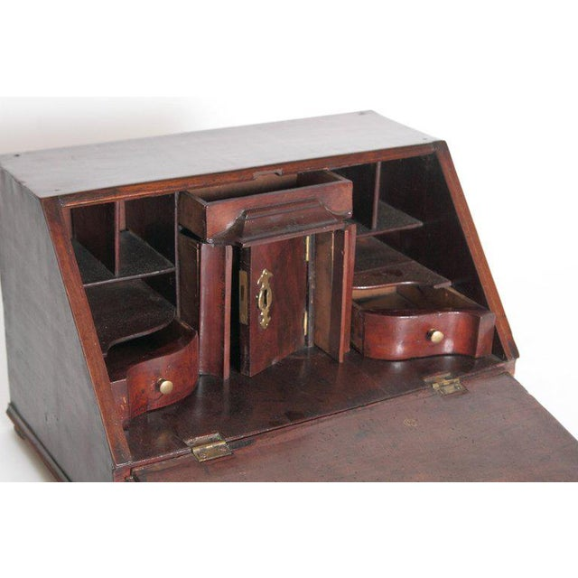 Brown 18th Century Georgian Mahogany Miniature Secretary For Sale - Image 8 of 13