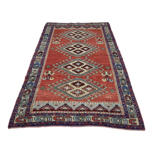 Vintage Oushak Wool Hand Knotted Rug - 4′6″ × 8′1″ - Image 1 of 11