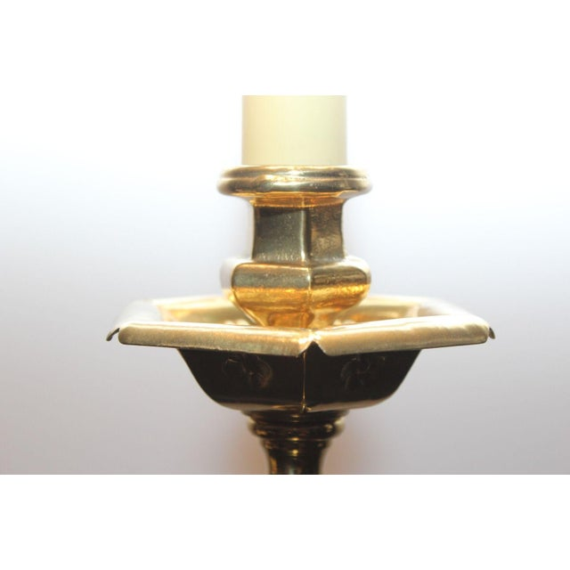 Ethan Allen Debossed Candlestick Table Lamp - Image 7 of 9