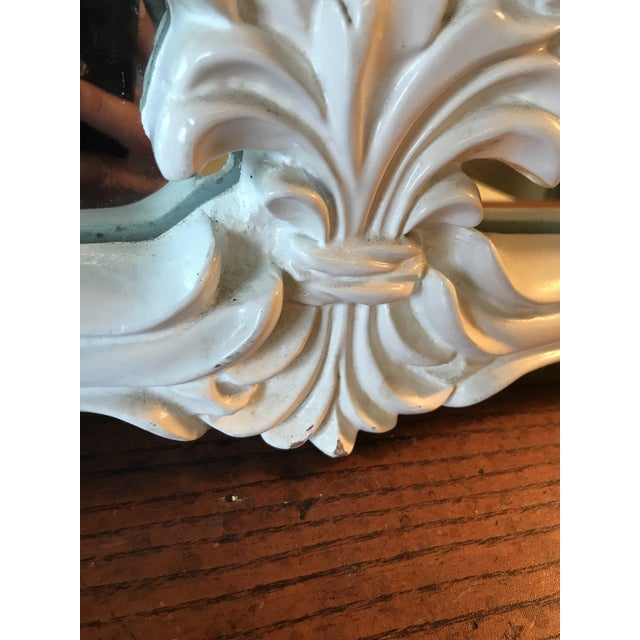 Vintage Coastal Regency Fleur De Lis Mirror For Sale - Image 6 of 12