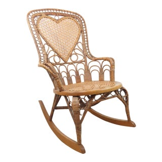 Antique Victorian Rocking Chair by Heywood Brothers For Sale