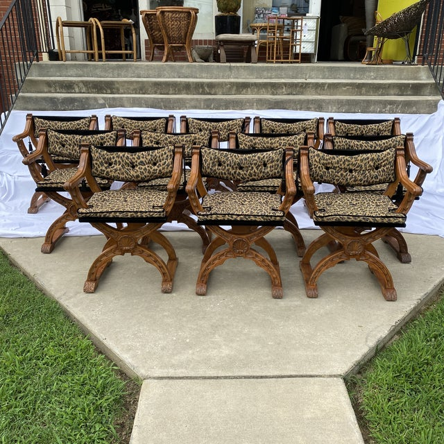 Italian Carved Curule Dining Chairs - Set/12 For Sale - Image 13 of 13