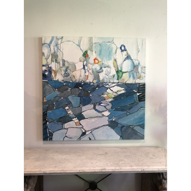 Blue Contemporary Abstract Painting For Sale - Image 8 of 8