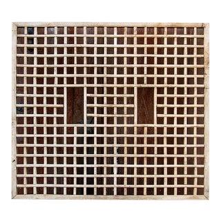 19th Century Square Geometric Lattice Panel For Sale