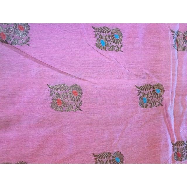 Pink Sari Fabric - Image 4 of 5