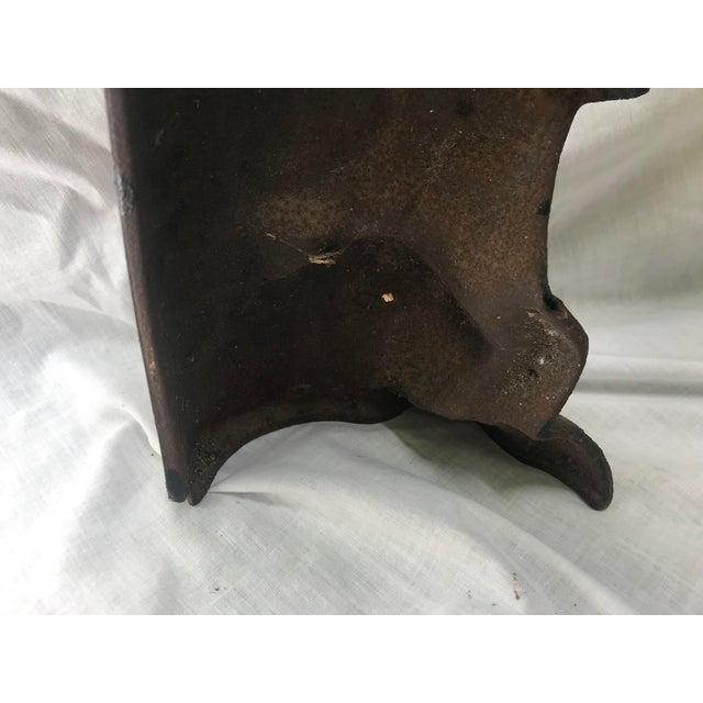 Black Vintage Wrought Iron Scottie Dog Door Stop For Sale - Image 8 of 12