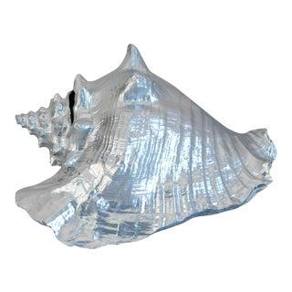 Nautical Beach Large Silver Gilt Conch Seashell