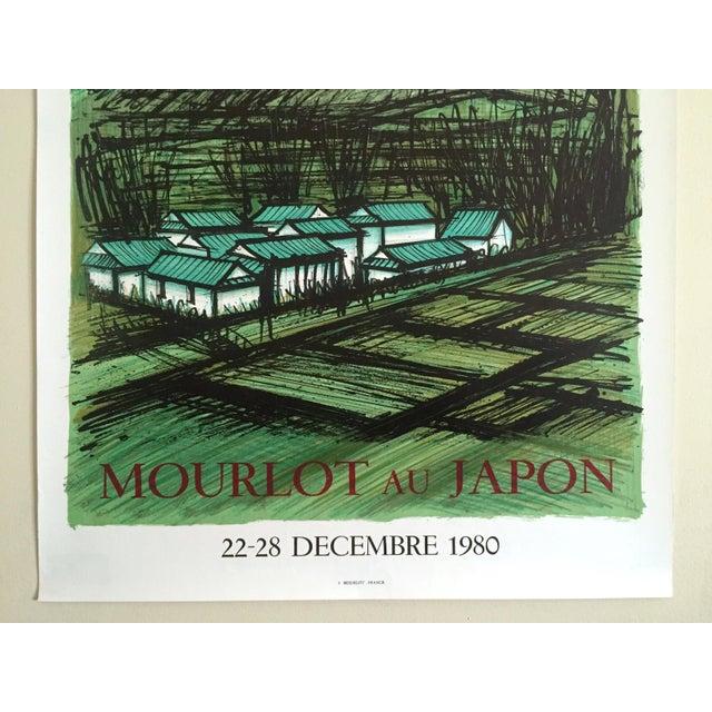 "Bernard Buffet Bernard Buffet Rare Vintage 1980 "" Mourlot Au Japon "" French Lithograph Print Exhibition Poster For Sale - Image 4 of 12"