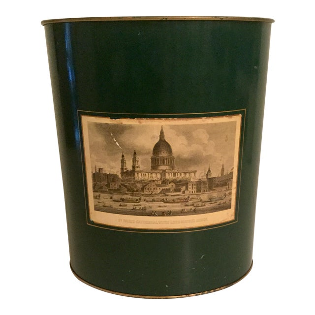 Harrod's English Waste Paper Bin For Sale