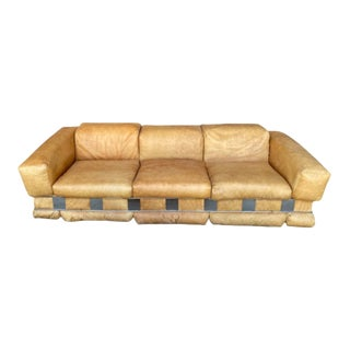 Adrian Pearsall Leather Sofa For Sale