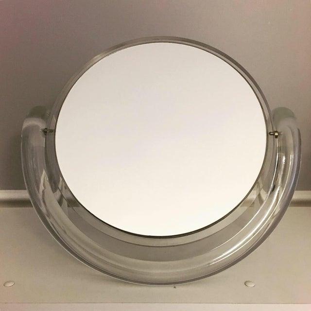 Metal Dorothy Thorpe Lucite Vanity/Make Up Mirror For Sale - Image 7 of 8