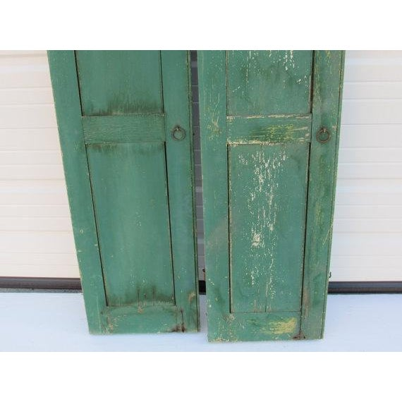 Cottage Green Cape May Shutters - A Pair For Sale - Image 3 of 6