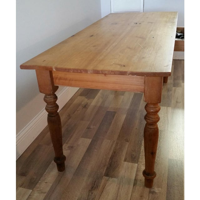 Rustic Farmhouse Dining Table - Image 6 of 7