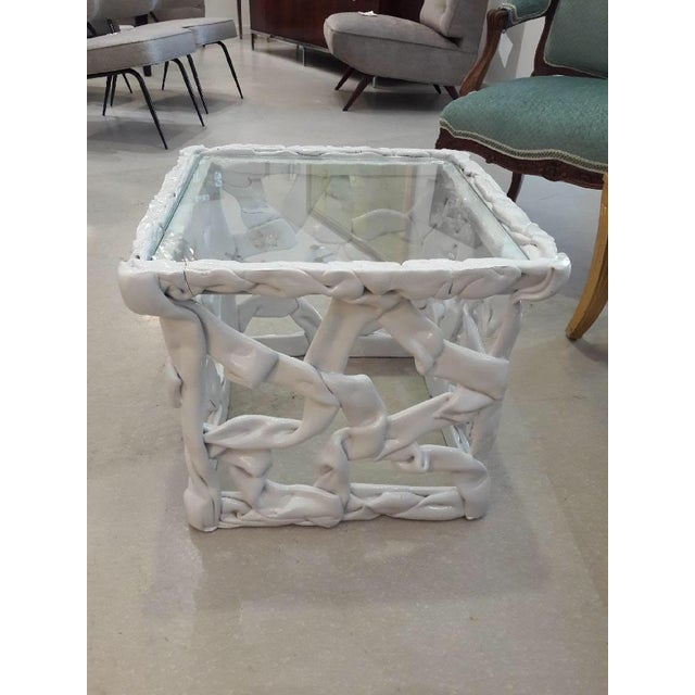 1970s Abstract White Taffy Resin Cube Table For Sale In West Palm - Image 6 of 9