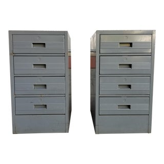 Industrial Steel Cabinets - a Pair For Sale