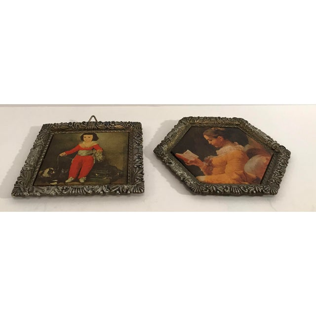 Early 20th Century Vintage Japanese Miniature Silk Prints - a Pair For Sale - Image 5 of 9