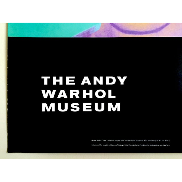 "Paper Andy Warhol Museum Rare Lmtd Edtn Lithograph Print Monumental Pop Art Poster "" Grace Jones "" 1986 For Sale - Image 7 of 13"