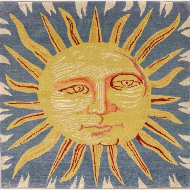 Sky Blue Solana, the Sun Rug, 3' X 3' For Sale - Image 8 of 8