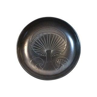 Vintage Martz Marshall Studios Mushroom Plate For Sale