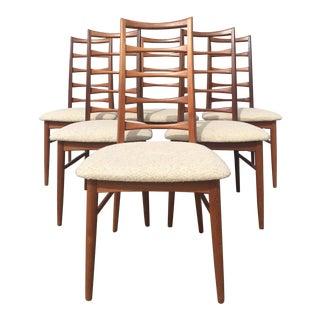 Mid Century Niels Koefoed for Hornslet Danish Modern Teak Dining Chairs- Set of 6 For Sale
