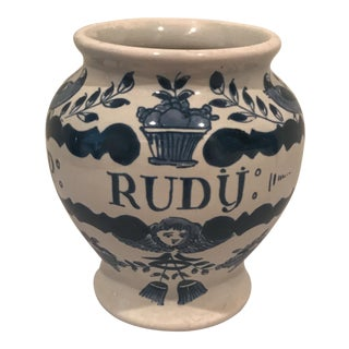 P. Rudy Delft Apothocary Jar For Sale