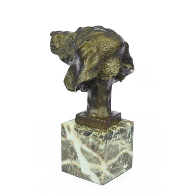 Dachshund Bust Bronze Sculpture For Sale - Image 4 of 10