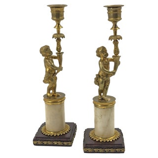 Pair of French Louis XVI Candlesticks For Sale