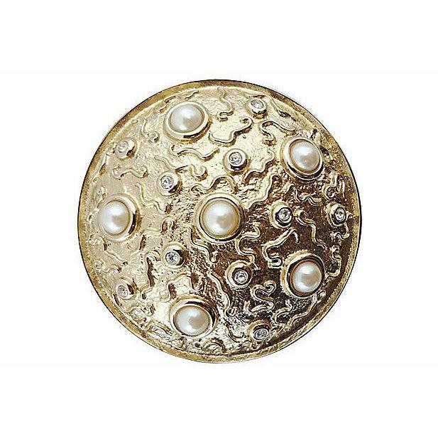 Modern 1980s Guy Laroche Faux-Pearl Earrings For Sale - Image 3 of 6
