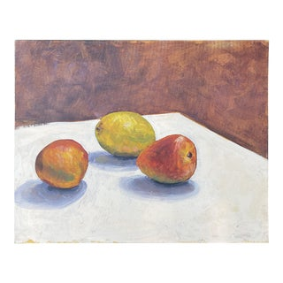 Mangos on Canvas Board Still Life Painting For Sale