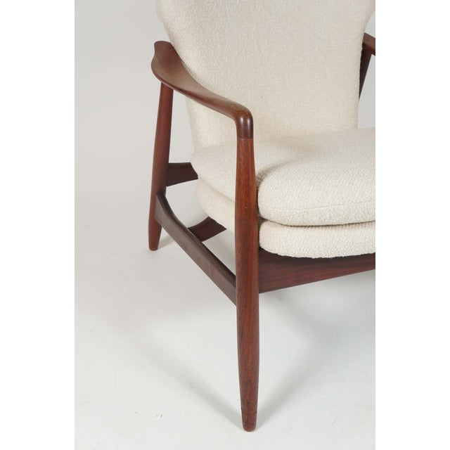 1960s Sculptural Ib Kofod Larsen Midcentury Teak Frame Lounge Armchair From Denmark For Sale - Image 5 of 8
