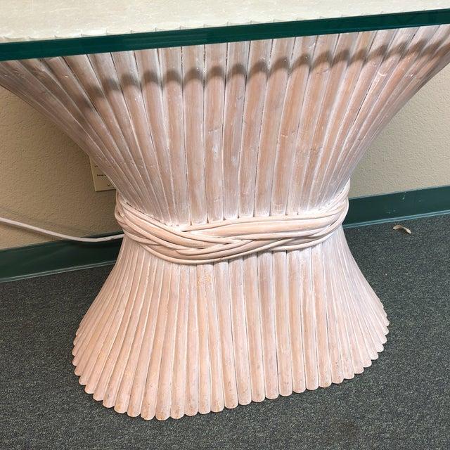 Italian McGuire Wheat Sheath Style Console Table For Sale - Image 3 of 11