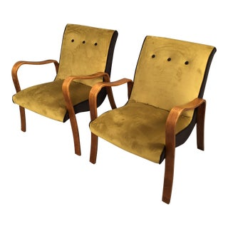 1960sMid-Century Modern Thonet Bentwood Armchairs - a Pair