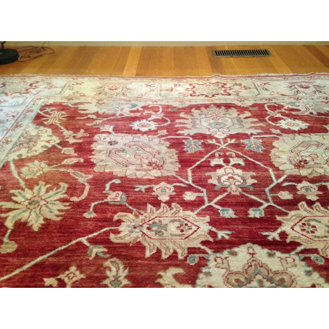 Oriental Handmade Red Rug - 8' X 10' For Sale - Image 4 of 7