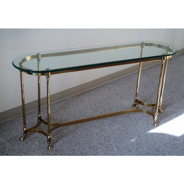 1960s La Barge-Style Brass Console - Image 6 of 7